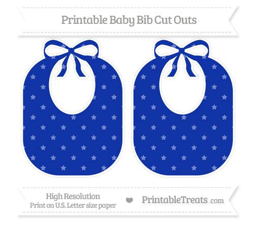 Free Egyptian Blue Star Pattern Large Baby Bib Cut Outs