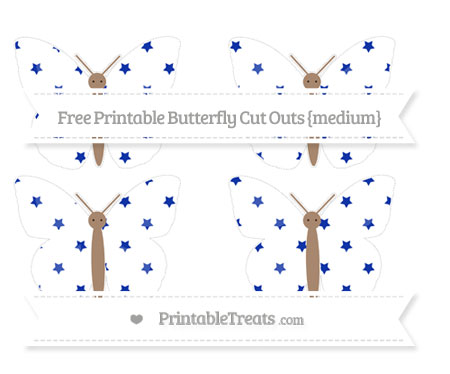 Free Egyptian Blue Star Pattern Medium Butterfly Cut Outs