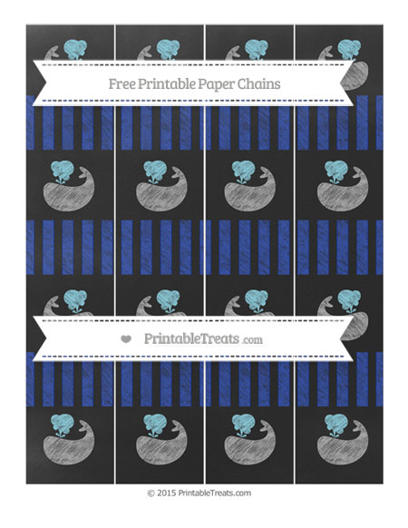 Free Egyptian Blue Striped Chalk Style Whale Paper Chains