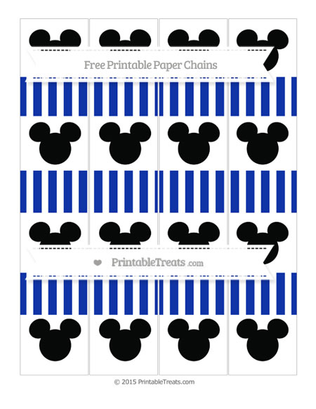 Free Egyptian Blue Striped Mickey Mouse Paper Chains