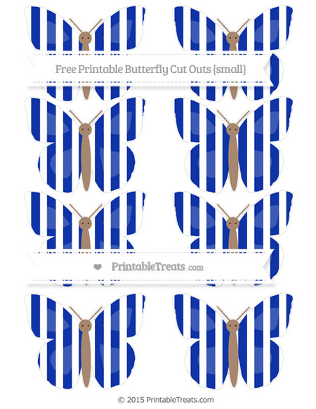 Free Egyptian Blue Striped Small Butterfly Cut Outs