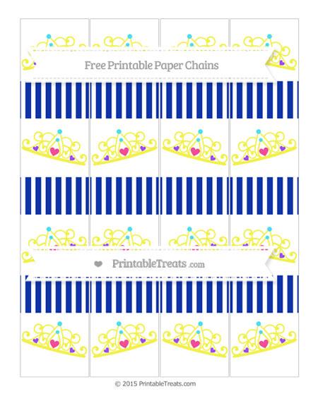 Free Egyptian Blue Thin Striped Pattern Princess Tiara Paper Chains