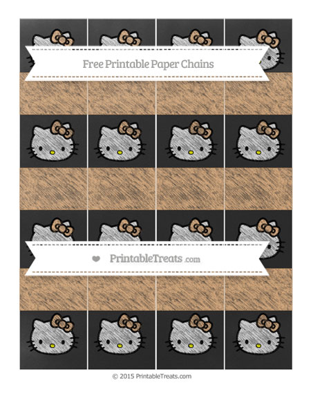 Free Fawn Chalk Style Hello Kitty Paper Chains