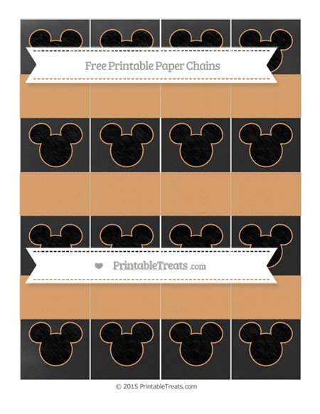 Free Fawn Chalk Style Mickey Mouse Paper Chains