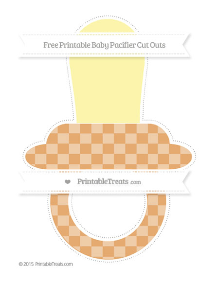 Free Fawn Checker Pattern Extra Large Baby Pacifier Cut Outs