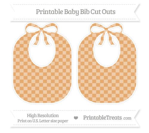 Free Fawn Checker Pattern Large Baby Bib Cut Outs