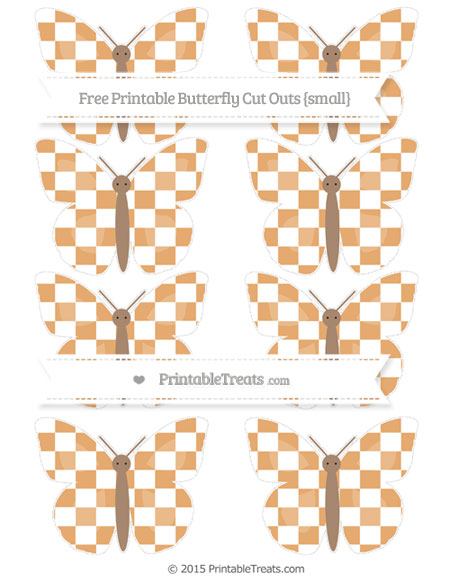 Free Fawn Checker Pattern Small Butterfly Cut Outs