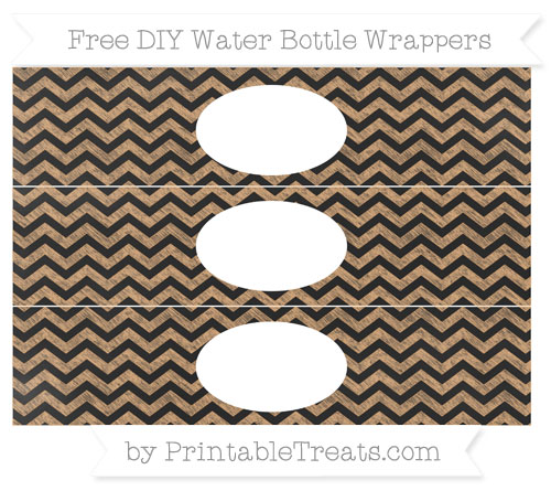Free Fawn Chevron Chalk Style DIY Water Bottle Wrappers