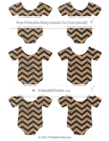 Free Fawn Chevron Chalk Style Small Baby Onesie Cut Outs