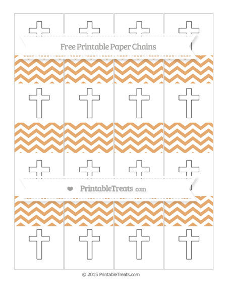 Free Fawn Chevron Cross Paper Chains