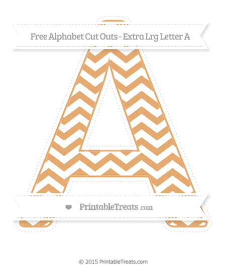 Free Fawn Chevron Extra Large Capital Letter A Cut Outs