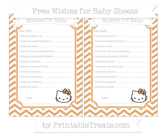 Free Fawn Chevron Hello Kitty Wishes for Baby Sheets