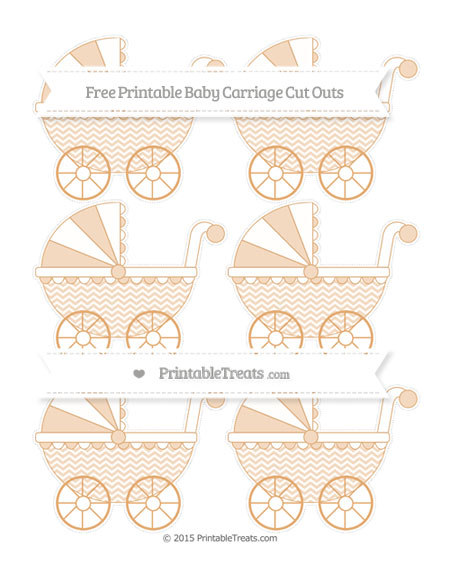 Free Fawn Chevron Small Baby Carriage Cut Outs