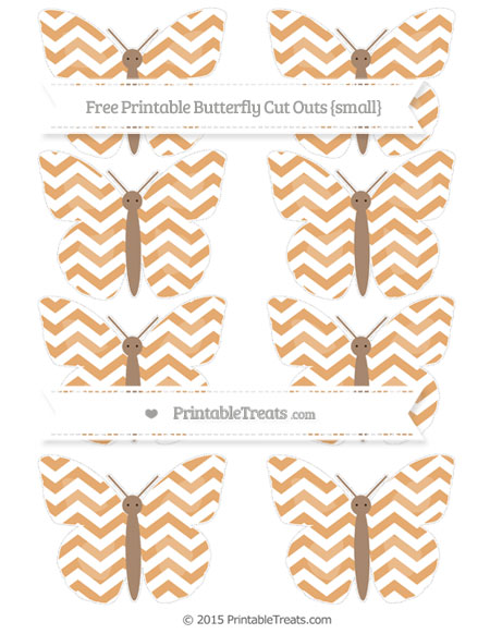 Free Fawn Chevron Small Butterfly Cut Outs