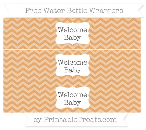 Free Fawn Chevron Welcome Baby Water Bottle Wrappers