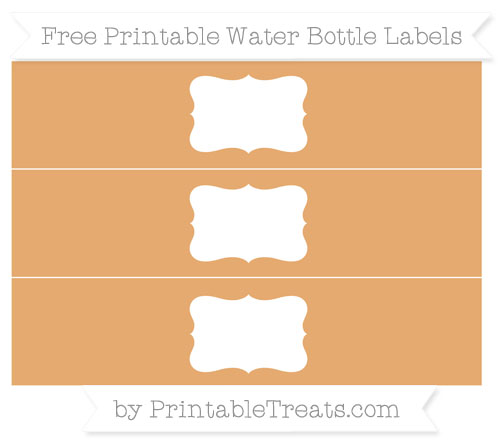 Free Fawn Water Bottle Labels