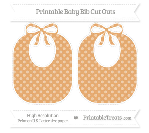 Free Fawn Dotted Pattern Large Baby Bib Cut Outs