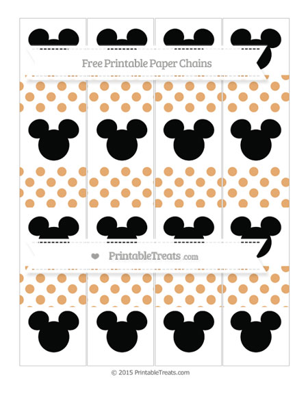 Free Fawn Dotted Pattern Mickey Mouse Paper Chains