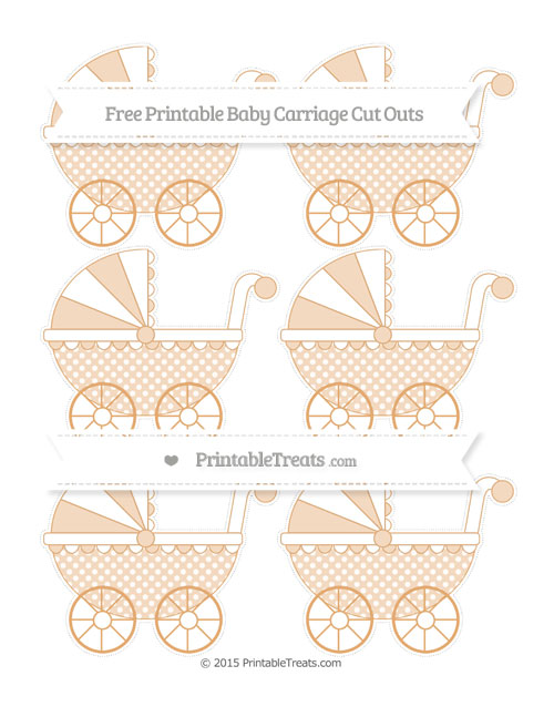 Free Fawn Dotted Pattern Small Baby Carriage Cut Outs
