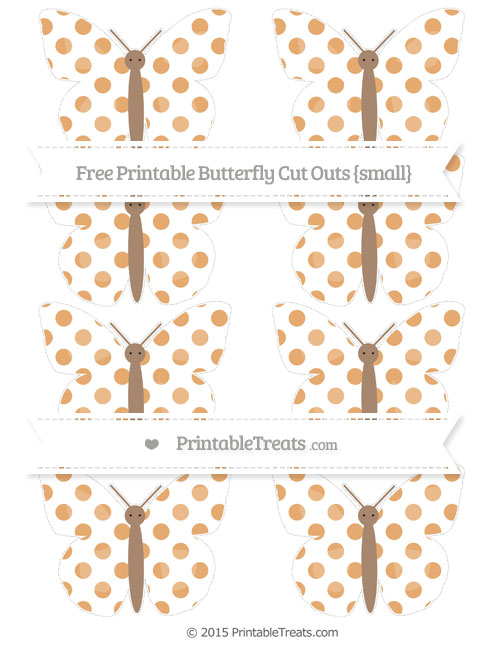 Free Fawn Dotted Pattern Small Butterfly Cut Outs