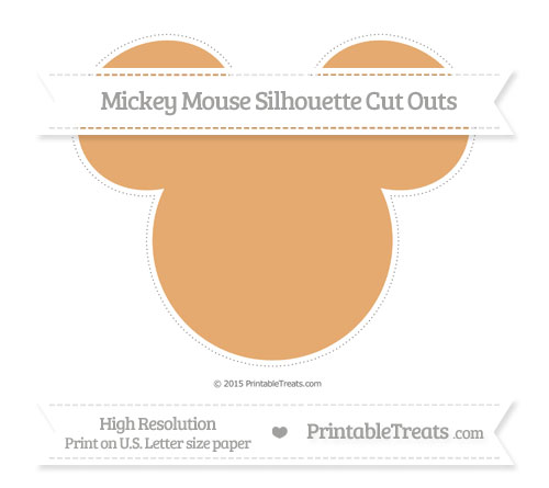 Free Fawn Extra Large Mickey Mouse Silhouette Cut Outs