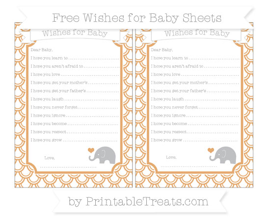 Free Fawn Fish Scale Pattern Baby Elephant Wishes for Baby Sheets