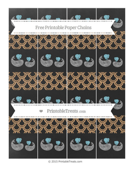 Free Fawn Fish Scale Pattern Chalk Style Baby Whale Paper Chains