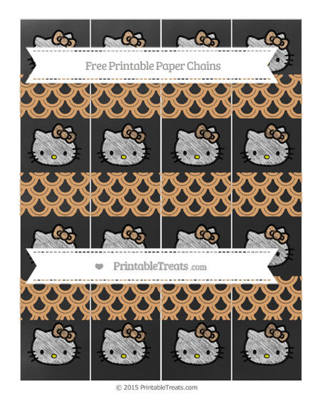 Free Fawn Fish Scale Pattern Chalk Style Hello Kitty Paper Chains