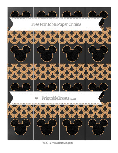 Free Fawn Fish Scale Pattern Chalk Style Mickey Mouse Paper Chains