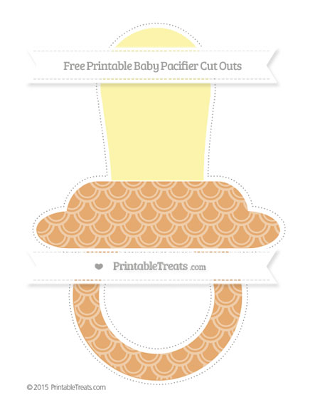 Free Fawn Fish Scale Pattern Extra Large Baby Pacifier Cut Outs