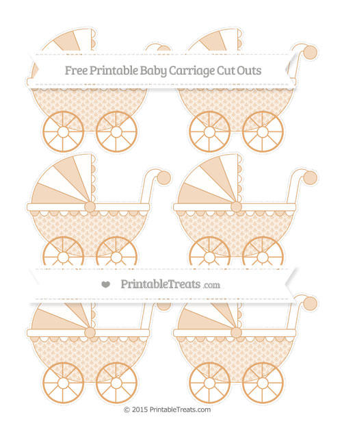 Free Fawn Fish Scale Pattern Small Baby Carriage Cut Outs