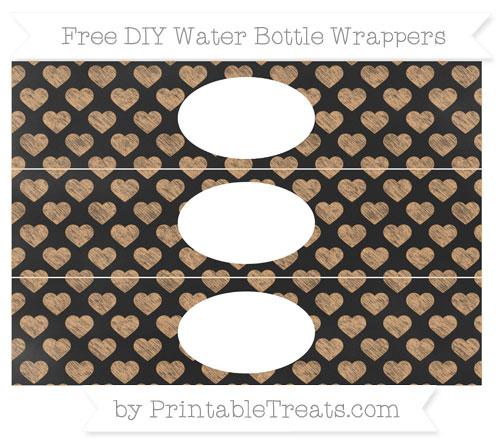 Free Fawn Heart Pattern Chalk Style DIY Water Bottle Wrappers