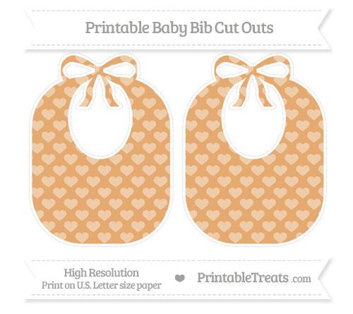 Free Fawn Heart Pattern Large Baby Bib Cut Outs