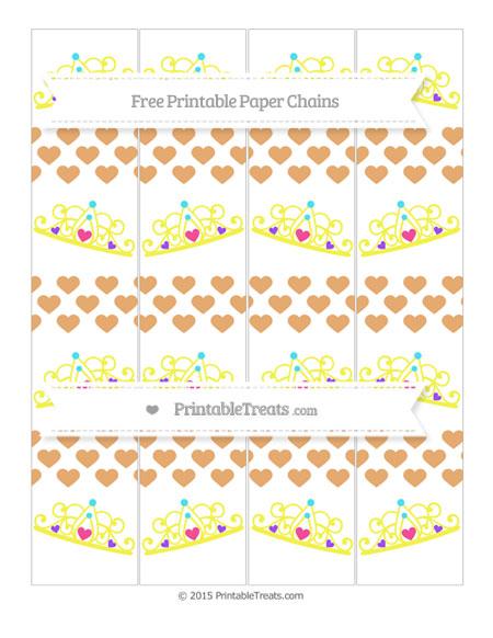 Free Fawn Heart Pattern Princess Tiara Paper Chains