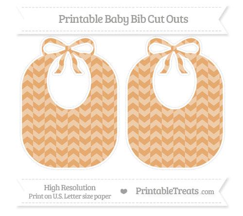 Free Fawn Herringbone Pattern Large Baby Bib Cut Outs