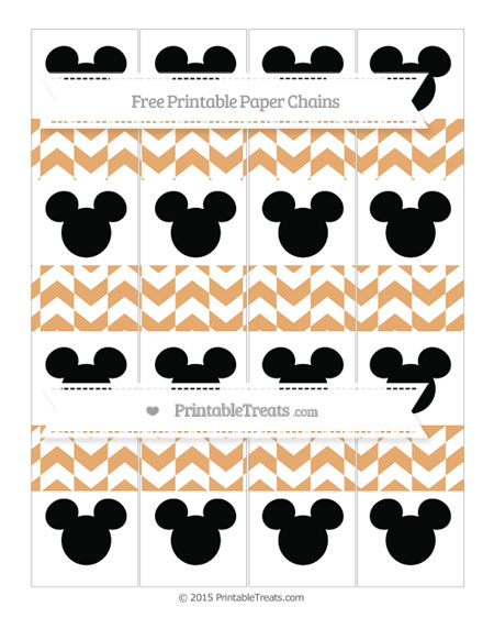 Free Fawn Herringbone Pattern Mickey Mouse Paper Chains
