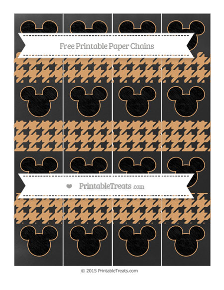 Free Fawn Houndstooth Pattern Chalk Style Mickey Mouse Paper Chains