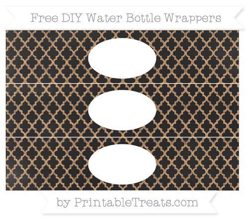 Free Fawn Moroccan Tile Chalk Style DIY Water Bottle Wrappers