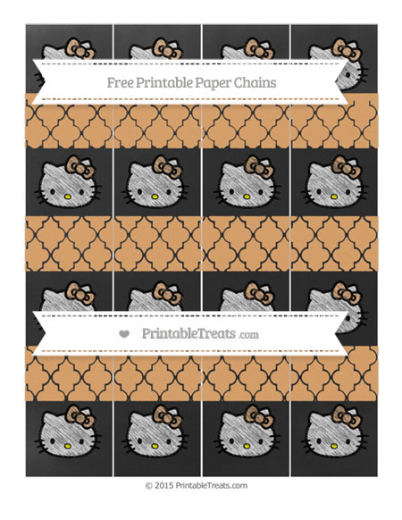 Free Fawn Moroccan Tile Chalk Style Hello Kitty Paper Chains