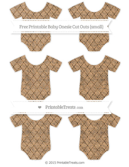 Free Fawn Moroccan Tile Chalk Style Small Baby Onesie Cut Outs