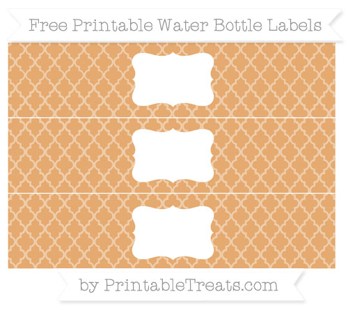 Free Fawn Moroccan Tile Water Bottle Labels