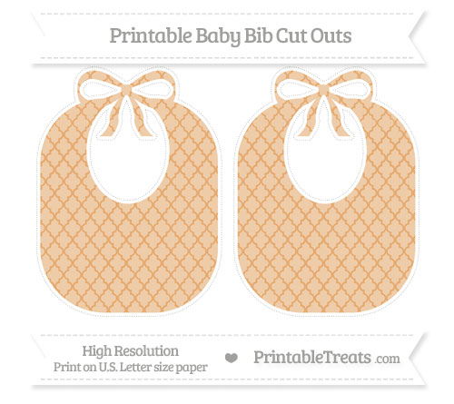 Free Fawn Moroccan Tile Large Baby Bib Cut Outs