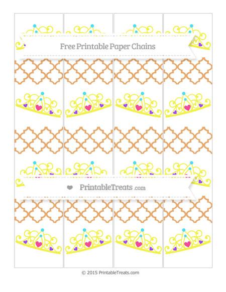 Free Fawn Moroccan Tile Princess Tiara Paper Chains