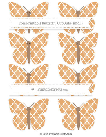 Free Fawn Moroccan Tile Small Butterfly Cut Outs