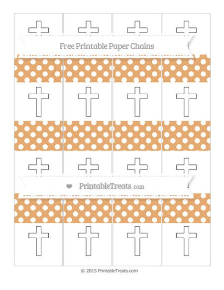 Free Fawn Polka Dot Cross Paper Chains