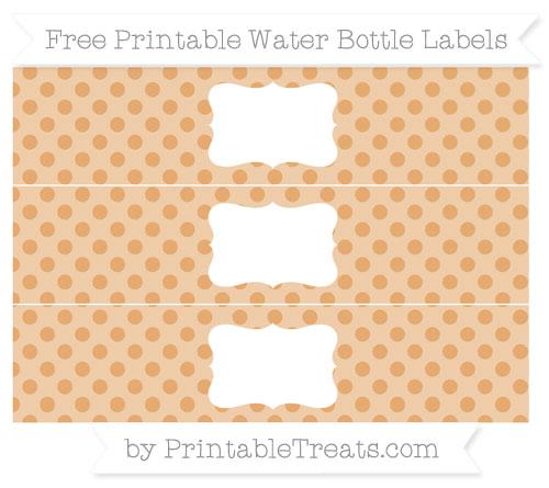 Free Fawn Polka Dot Water Bottle Labels