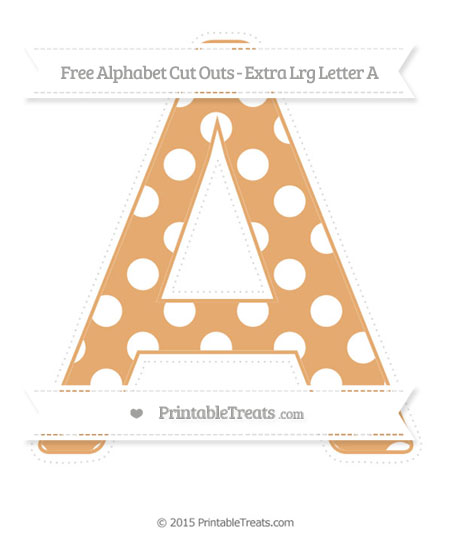 Free Fawn Polka Dot Extra Large Capital Letter A Cut Outs