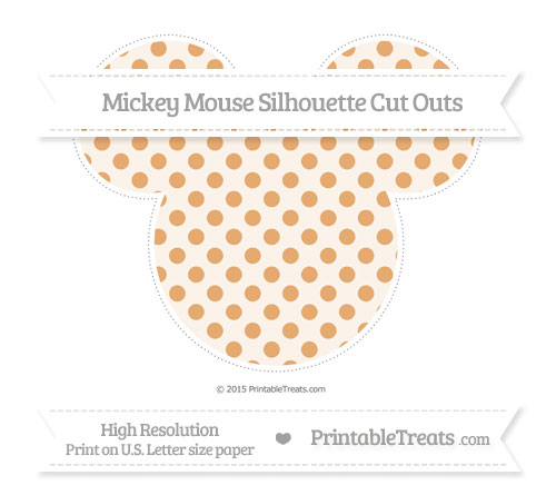 Free Fawn Polka Dot Extra Large Mickey Mouse Silhouette Cut Outs