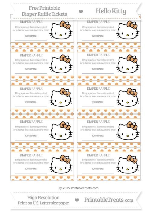 Free Fawn Polka Dot Hello Kitty Diaper Raffle Tickets