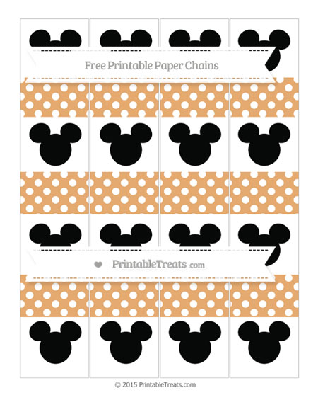 Free Fawn Polka Dot Mickey Mouse Paper Chains
